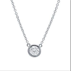 Crislu bezel pendant necklace